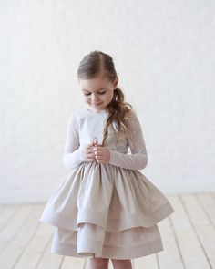 Dresses Kids Girl, Little Girl Outfits, Little Girl Fashion, Flower Girl Dresses, Little Girls, Toddler Girl Style, Toddler Fashion, Kids Fashion, Toddler Girls