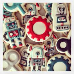 Oh Sugar Events Robot cookies