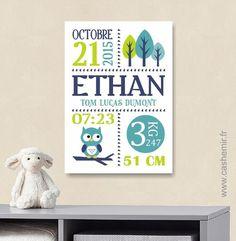 Cadeau de naissance bébé, stats de naissance, décoration chambre enfant garçon fille - Fichier Imprimable - n°45 : Chambre d'enfant, de bébé par cashemir