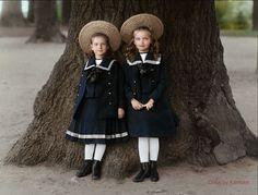 Grandes Duquesas Tatiana y Olga Romanov por klimbims