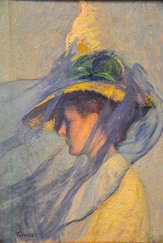 Edmund Tarbell - The Blue Veil, 1898