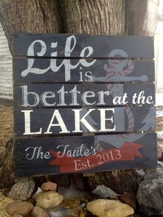 hand painted LOST BEAR RIVER CABINS /& CAMPGROUNDS SIGN