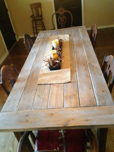 Amazing DIY Farmhouse Table Plans & Ideas for Your Dining Room (Free) Dining Table Legs, Trestle Table, Patio Table, Narrow Dining Tables, Pine Table, Kitchen Tables, Wood Table, Kitchen Dining, Kitchen Island