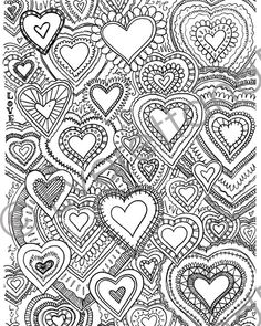 This 8x10 hand-drawn coloring page is just a little something I doodled one afternoon. When you purchase it, youll receive a downloadable .jpg