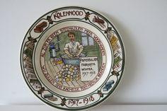 Wandbord kolennood 1917-1918 , Gouda Holland door Leerdamart op Etsy