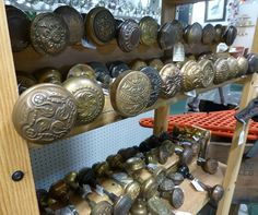 So many door knobs  spotted at Angela's Attic in So. Beloit, IL.