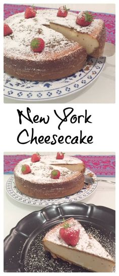 This New York Cheesecake is light, creamy, and simply delicious. Top ...