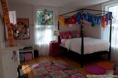 Lets rock those show ribbons! - Cute girl's room . . . too bad Maddie's room doesn't have a canopy :(