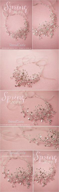 UnrealCastle Кристалл плетеные ожерелья ручной работы на заказ свадебных ювелирных груди завернутый платье важно - Taobao