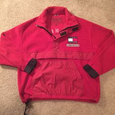 from $50.0 - Vintage Tommy #Hilfiger Fleece Surplus Jacket Size Large Men's 90's Rare
