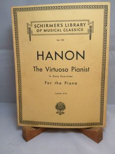 1928 Schirmer #HANON Virtuoso Pianist in Sixty Exercises for the Piano Complete