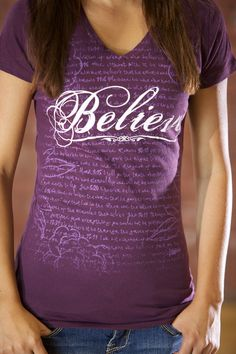 Believe - Womens V Neck Shirt on SonGear.com