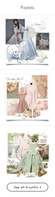 """""""Pastels"""" by kimbers-242 ❤ liked on Polyvore featuring Angel Sanchez, N°21, Boohoo, Dorothy Perkins, Chi Chi, Gianvito Rossi, Chanel, Kendra Scott, Monica Vinader and Miu Miu"""