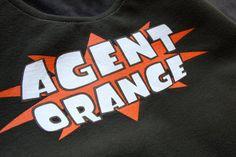 Agent Orange - Upcycled Rock Band T-shirt Purse - OOAK $22