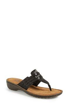 UGG® Australia UGG Australia® 'Jenaya' Thong Sandal leather black 1.5h sz7 79.95