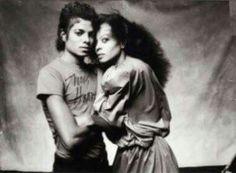 Michael Jackson and Diana Ross ;) - Cuteness in black and white ღ  @carlamartinsmj