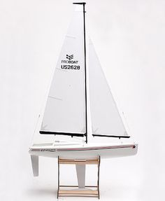 Another picture of Proboat's Westward model yacht