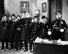 Laurel and Hardy co-star James Finlayson was one of the original Keystone cops. Keystone Cops, Annie Musical, Making A Murderer, Speakeasy Party, Protest Art, Silent Film Stars, Movie Stars, Thing 1, Theatre Costumes