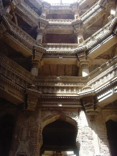 Ancient Stepwell, Gujarat, India.  Built in 13th century by Rani (Queen) Rudabai of Gujarat.