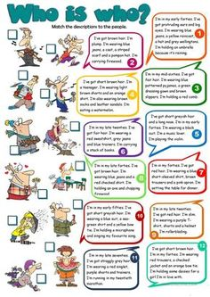 Who is who? - Men worksheet - Free ESL printable worksheets made by teachers