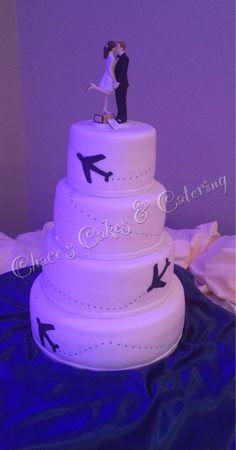 4 Tier Pilot Wedding Cake...  White Cake/Choc Icing/Bavarian Cream Filling