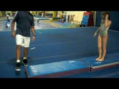 Back To Basics Front Handspring Drill - YouTube Measure where to start-one body length from toes to fingertips