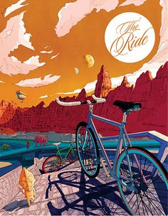 Issue 6 of The Ride. Simple and elegant. Love the sense of space in the illustrations. http://theridejournal.com/