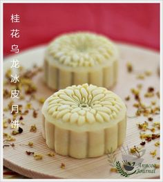 Osmanthus Oolong Snowskin Mooncake