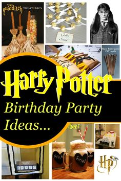 Harry Potter Birthday Party Ideas - These Ideas are totally awesome. The Moaning Myrtle free printable is one of my personal favourites. #harrypotter #halloween #kidsparty