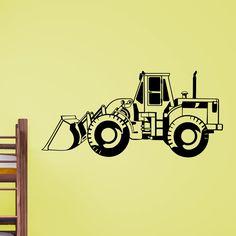 Cool Digger Truck v2 Kids Wall Sticker