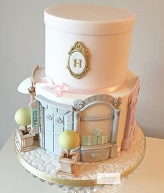 Beautiful stylish boutique cake design!! By @designercakeco #cake #cakedesign #storybookbliss #partyideas #stylish #sweets