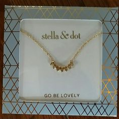 Aurora necklace by Stella and Dot Adorable gold necklace, new in packaging ready to gift or layer. Stella & Dot Jewelry Necklaces