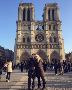 """Growing up watching The Hunchback of Notre Dame and singing """"God Help the Outcasts"""" by Esmeralda at voice recitals... I have always wanted to come here   #notredame #cathedral #paris #notredamedeparis #love #france #couplegoals #cmbcouple #hunchbackofnotredame"""