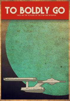 To Boldly Go, Star Trek, Enterprise, 1930's, retro