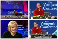 She is delightfully witty. | 19 Reasons Ruth Bader Ginsburg Is Your Favorite Supreme Court Justice