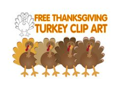 FREE Thanksgiving turkey clip art for commercial use