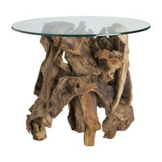 Crate and Barrel driftwood sidetable