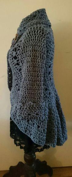Blauwgrijs tweed cirkelvest EvaH_DesigN