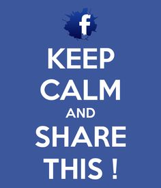 Keep calm and share this! #keepcalm #facebook