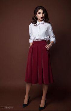Купить бордовую юбку для школы