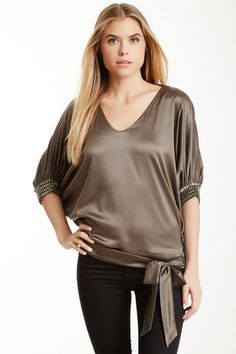 Tie Waist Silk Blend Blouse by Hale Bob on @HauteLook