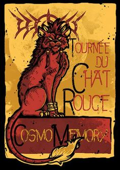 Shop Le Chat Rouge fantasy t-shirts designed by LetterQ as well as other fantasy merchandise at TeePublic. Black Cat Art, Black Cats, Alphonse Mucha Art, Final Fantasy Artwork, Kunst Poster, Here Kitty Kitty, Video Game Art, Fandoms, Large Art