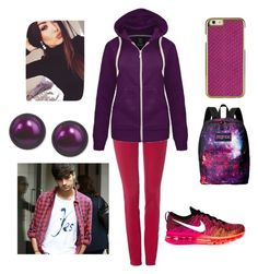 """""""Untitled #86"""" by nikasopkovicova2 on Polyvore featuring Armani Jeans, NIKE, JanSport and Honora"""