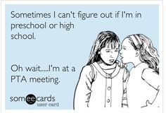 My life in the PTA....thank god I'm done with that!