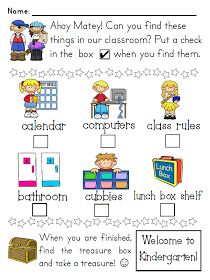 Kindergarten Orientation Treasure Map - I like this idea! ~ might have to do it at our orientation this year. Back To School Night, 1st Day Of School, Beginning Of The School Year, School Fun, School Stuff, School Ideas, School Projects, Beginning Of Kindergarten, Kindergarten Classroom