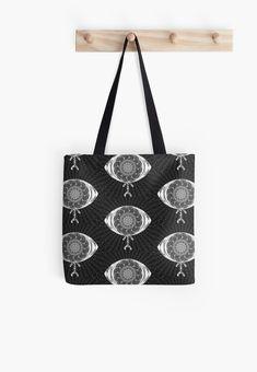 'The AyEye Mummy_Version02' All Over Print Tote Bag, print design by Asmo Turunen. #design #totebag #shoppingbag #atcreativevisuals