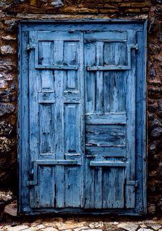 Rustic blue...