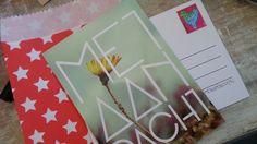 Een ansichtkaart met postzegel van Met Aandacht - stuur iemand eens een kaartje. Uit het doosje vol met aandacht www.metaandacht.nu