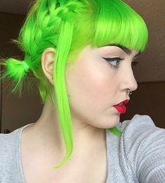 Neon Green hair color