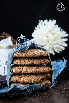 Haferflocken Erdnussbutter-Schokoladen-Plätzchen    mygingergarlickitchen.com/ @anupama_dreams